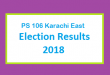 PS 106 Karachi East Election Result 2018 - PMLN PTI PPP Candidate Votes Live Update