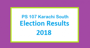 PS 107 Karachi South Election Result 2018 - PMLN PTI PPP Candidate Votes Live Update