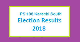 PS 108 Karachi South Election Result 2018 - PMLN PTI PPP Candidate Votes Live Update