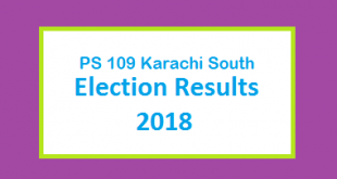 PS 109 Karachi South Election Result 2018 - PMLN PTI PPP Candidate Votes Live Update