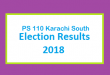 PS 110 Karachi South Election Result 2018 - PMLN PTI PPP Candidate Votes Live Update