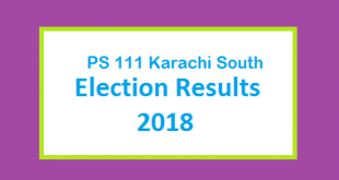 PS 111 Karachi South Election Result 2018 - PMLN PTI PPP Candidate Votes Live Update