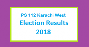 PS 112 Karachi West Election Result 2018 - PMLN PTI PPP Candidate Votes Live Update
