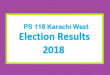 PS 118 Karachi West Election Result 2018 - PMLN PTI PPP Candidate Votes Live Update