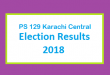 PS 129 Karachi Central Election Result 2018 - PMLN PTI PPP Candidate Votes Live Update