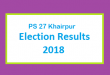 PS 27 Khairpur Election Result 2018 - PMLN PTI PPP Candidate Votes Live Update
