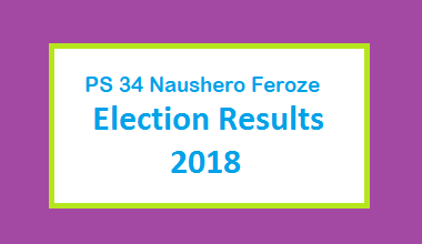 PS 34 Naushero Feroze Election Result 2018 - PMLN PTI PPP Candidate Votes Live Update