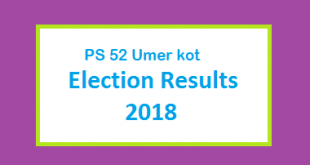 PS 52 Umer kot Election Result 2018 - PMLN PTI PPP Candidate Votes Live Update