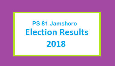 PS 81 Jamshoro Election Result 2018 - PMLN PTI PPP Candidate Votes Live Update