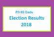 PS 85 Dadu Election Result 2018 - PMLN PTI PPP Candidate Votes Live Update