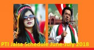 PTI Jalsa Schedule June-July 2018 - Imran Khan Addresses Online - Election Campaign