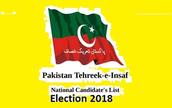 PTI MNA Candidate List Complete and Final Election 2018
