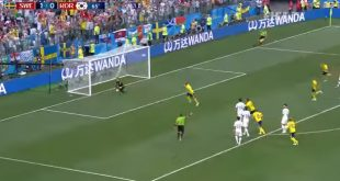 Sweden Polled First Goal Against Korea in FIFA Football World Cup 12 Match 2018 in Russia on 18 June 2018