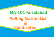 NA 101 Faisalabad Polling Station Names and List of Candidates for Election 2018