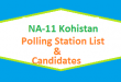 NA 11 Kohistan Polling Station Names and List of Candidates for Election 2018