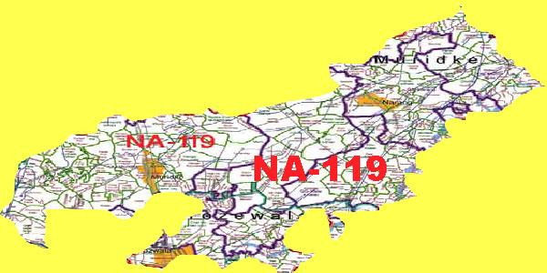 NA 119 Sheikhupura Area location Map of National Assembly Halqa 2018