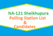 NA 121 Shaikhupura Polling Station Names and List of Candidates for Election 2018