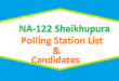 NA 122 Shaikhupura Polling Station Names and List of Candidates for Election 2018