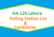 NA 126 Lahore Polling Station Names and List of Candidates for Election 2018