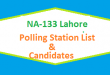 NA 133 Lahore Polling Station Names and List of Candidates for Election 2018