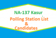 NA 137 Kasur Polling Station Names and List of Candidates for Election 2018