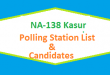 NA 138 Kasur Polling Station Names and List of Candidates for Election 2018
