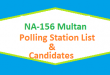 NA 156 Multan Polling Station Names and List of Candidates for Election 2018