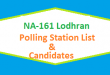 NA 161 Lodhran Polling Station Names and List of Candidates for Election 2018