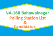 NA 168 Bahawalnagar Polling Station Names and List of Candidates for Election 2018