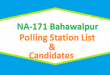 NA 171 Bahawalpur Polling Station Names and List of Candidates for Election 2018
