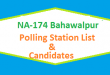 NA 174 Bahawalpur Polling Station Names and List of Candidates for Election 2018