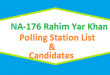 NA 176 Rahim Yar Khan Polling Station Names and List of Candidates for Election 2018