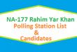 NA 177 Rahim Yar Khan Polling Station Names and List of Candidates for Election 2018