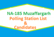 NA 185 Muzaffargarh Polling Station Names and List of Candidates for Election 2018