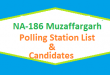 NA 186 Muzaffargarh Polling Station Names and List of Candidates for Election 2018