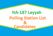 NA 187 Layyah Polling Station Names and List of Candidates for Election 2018