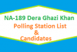 NA 189 Dera Ghazi Khan Polling Station Names and List of Candidates for Election 2018