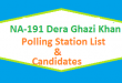 NA 191 Dera Ghazi Khan Polling Station Names and List of Candidates for Election 2018
