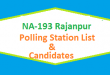 NA 193 Rajanpur Polling Station Names and List of Candidates for Election 2018