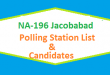 NA 196 Jacobabad Polling Station Names and List of Candidates for Election 2018