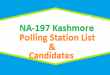 NA 197 Kashmore Polling Station Names and List of Candidates for Election 2018