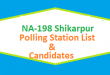 NA 198 Shikarpur Polling Station Names and List of Candidates for Election 2018