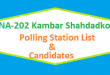 NA 202 Kambar Shahdadkot Polling Station Names and List of Candidates for Election 2018