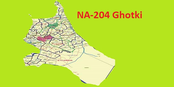 NA 204 Ghotki Area Location Map of National Assembly Halqa 2018