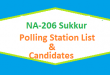 NA 206 Sukkur Polling Station Names and List of Candidates for Election 2018