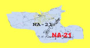 NA 21 Mardan Area Map of National Assembly Halqa 2018