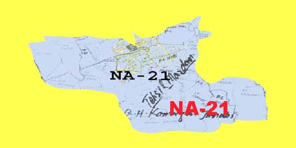 NA 21 Mardan Area Map of National Assembly Halqa 2018