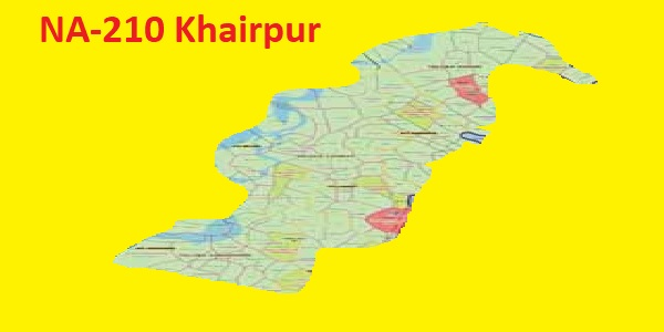 NA 210 Khairpur Area Location Map of National Assembly Halqa 2018