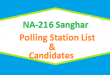 NA 216 Sanghar Polling Station Names and List of Candidates for Election 2018