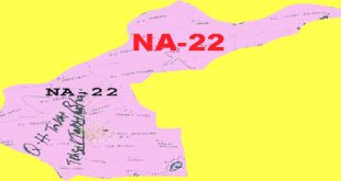 NA 22 Mardan Area Map of National Assembly Halqa 2018